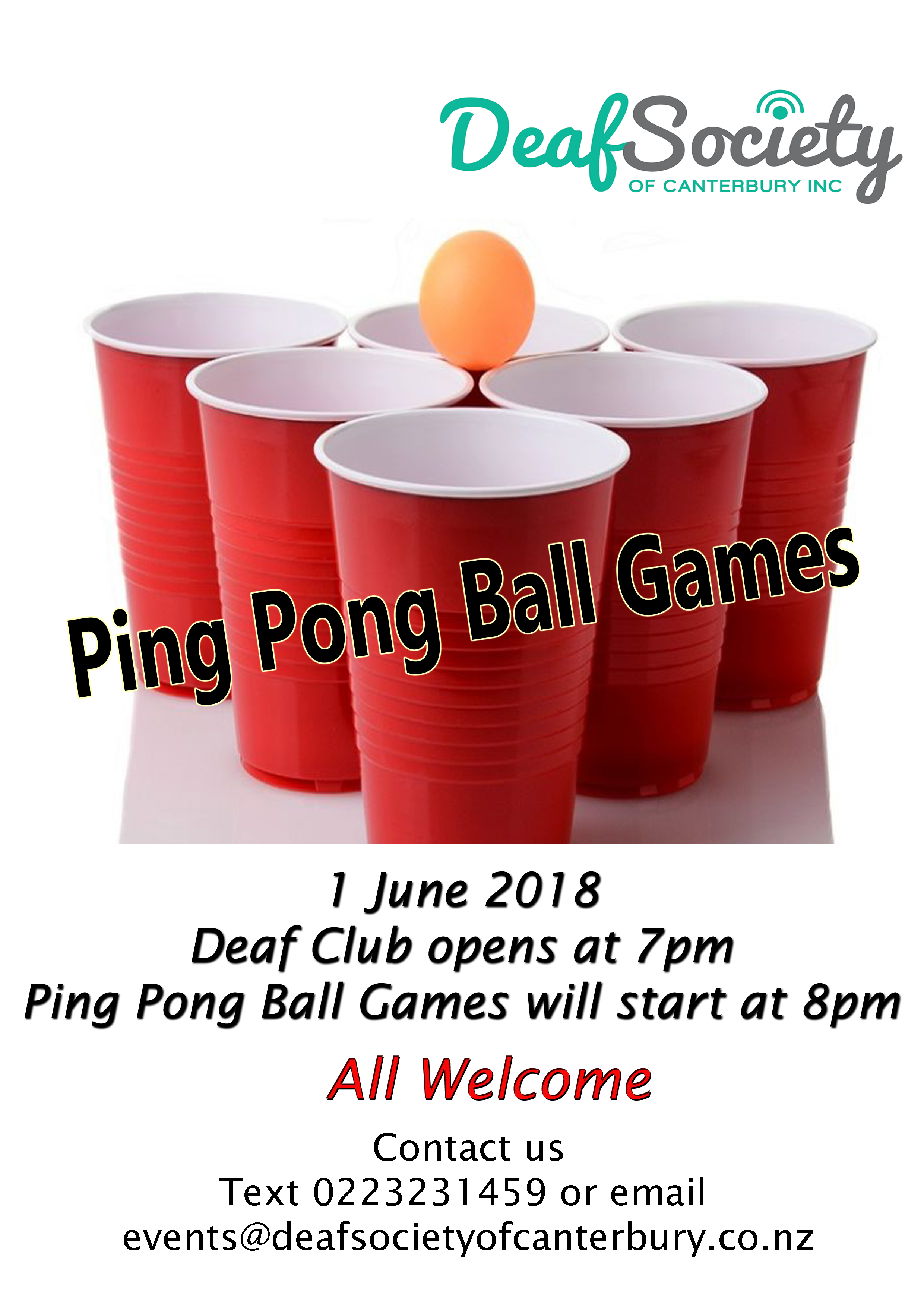 Ping Pong Games Party Flyer