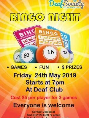 Bingo Night May 24 2019