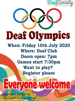 Deaf Olympics July 10 2020 copy